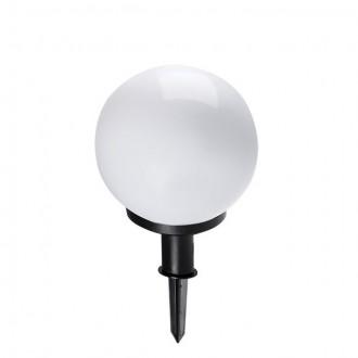 KANLUX 23510 | Idava Kanlux leszúrható lámpa gömb villásdugó - kapcsoló nélkül elforgatható alkatrészek 1x E27 IP44 fekete, fehér