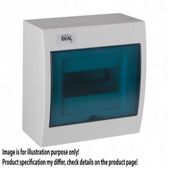 KANLUX 23610   Kanlux falon kívüli elosztószekrény DIN35, 6P téglalap IP30 IK07 fehér, szürke-kék