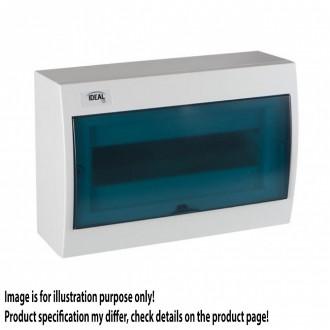 KANLUX 23612 | Kanlux falon kívüli elosztószekrény DIN35, 12P téglalap IP30 IK07 fehér, szürke-kék