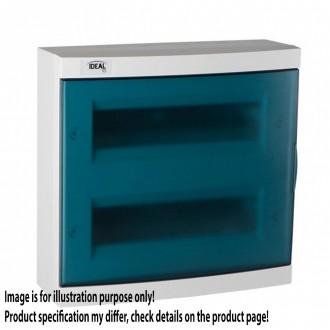 KANLUX 23614 | Kanlux falon kívüli elosztószekrény DIN35, 24P téglalap IP30 IK07 fehér, szürke-kék