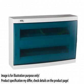KANLUX 23615 | Kanlux falon kívüli elosztószekrény DIN35, 36P téglalap IP30 IK07 fehér, szürke-kék