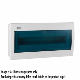 KANLUX 23619 | Kanlux süllyesztett elosztószekrény DIN35, 18P téglalap IP30 IK07 fehér, szürke-kék