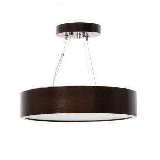KANLUX 23753 | Jasmin-K Kanlux függeszték lámpa kerek 1x E27 wenge, fehér