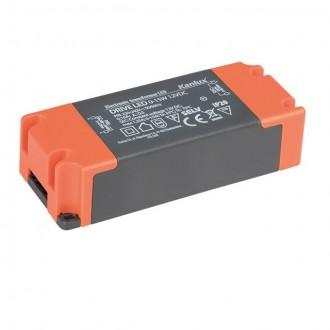 KANLUX 23860 | Kanlux LED tápegység 12V DC 0-15W 1,25A téglalap szürke, narancs