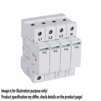 KANLUX 23920   Kanlux túlfeszültség korlátozó modul DIN35 modul, T1+T2/B+C, 240kA - 3P+N világosszürke