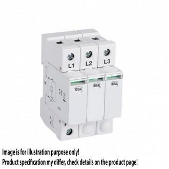 KANLUX 23921   Kanlux túlfeszültség korlátozó modul DIN35 modul, T1+T2/B+C, 180kA - 3P világosszürke