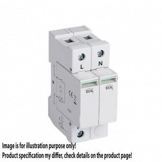 KANLUX 23922   Kanlux túlfeszültség korlátozó modul DIN35 modul, T1+T2/B+C, 120kA - 1P+N világosszürke