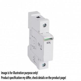 KANLUX 23923   Kanlux túlfeszültség korlátozó modul DIN35 modul, T1+T2/B+C, 60kA - 1P világosszürke