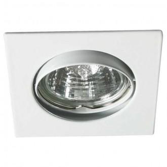 KANLUX 2550 | Navi Kanlux beépíthető lámpa négyzet billenthető 81x81mm 1x MR16 / GU5.3 fehér