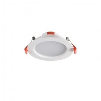 KANLUX 25560   Liten Kanlux beépíthető LED panel kerek Ø109mm 1x LED 390lm 3000K IP44/20 fehér