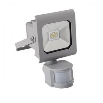 KANLUX 25580 | Antra Kanlux fényvető lámpa téglalap mozgásérzékelő, fényérzékelő szenzor - alkonykapcsoló elforgatható alkatrészek 1x LED 750lm 4000K IP44 szürke