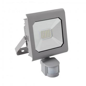 KANLUX 25581 | Antra Kanlux fényvető lámpa téglalap mozgásérzékelő, fényérzékelő szenzor - alkonykapcsoló elforgatható alkatrészek 1x LED 2300lm 4000K IP44 szürke