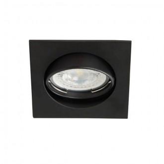 KANLUX 25991 | Navi Kanlux beépíthető lámpa négyzet billenthető 81x81mm 1x MR16 / GU5.3 matt fekete