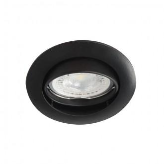 KANLUX 25996 | Vidi Kanlux beépíthető lámpa kerek billenthető Ø82mm 1x MR16 / GU5.3 fekete