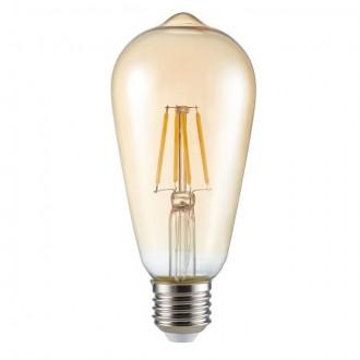 KANLUX 26041 | E27 6W -> 51W Kanlux Edison ST64 LED fényforrás filament 650lm 2500K 300°