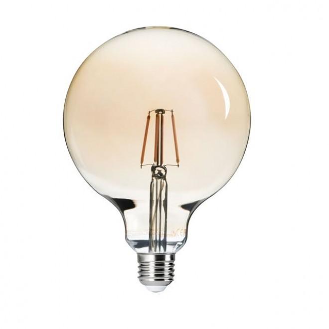KANLUX 26042 | E27 6W -> 51W Kanlux nagy gömb G125 LED fényforrás filament 650lm 2500K 300°