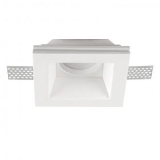 KANLUX 26071 | Imoe Kanlux beépíthető lámpa négyzet festhető, foglalat nélkül 110x110mm 1x MR16 / GU5.3 fehér