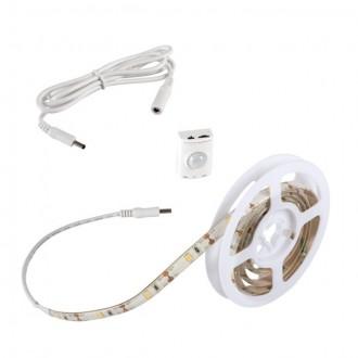 KANLUX 26322 | Kanlux_LS_Set Kanlux LED szalag lámpa mozgásérzékelő elemes/akkus 1x LED 180lm 3000-3900K IP54/20 fehér