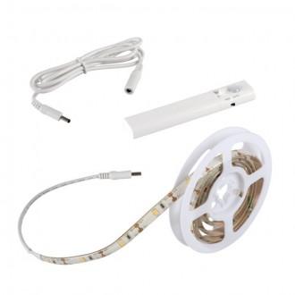 KANLUX 26323 | Kanlux-LS-Set Kanlux LED szalag lámpa mozgásérzékelő, kapcsoló elemes/akkus 1x LED 180lm 3000-3900K IP54/20 fehér