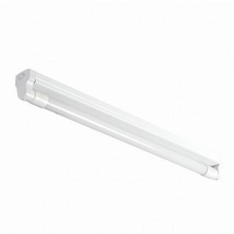 KANLUX 26360 | Aldo-4LED Kanlux mennyezeti armatúra T8 LED fényforráshoz tervezve 1x G13 / T8 LED fehér