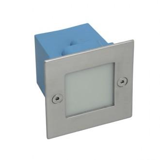 KANLUX 26460 | Taxi-LED Kanlux beépíthető lámpa négyzet 70x70mm 1x LED 10lm 3000K IP54 matt króm