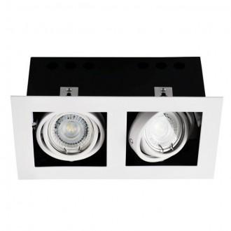 KANLUX 26481 | Meril Kanlux beépíthető lámpa téglalap elforgatható fényforrás 220x120mm 2x GU10 fehér