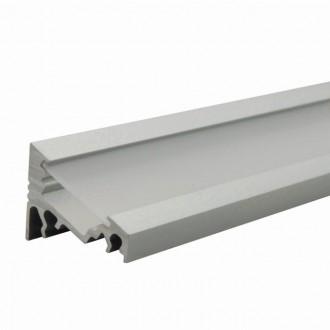 KANLUX 26541 | Kanlux alumínium led profil C - búra nélkül - 2m max. 10 mm LED szalaghoz alumínium