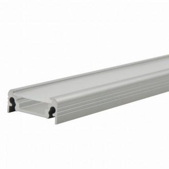 KANLUX 26542 | Kanlux alumínium led profil D - búra nélkül - 2m max. 10 mm LED szalaghoz alumínium