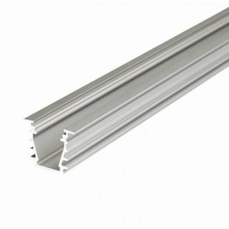 KANLUX 26555 | Kanlux alumínium led profil I - búra nélkül - 2m max. 10 mm LED szalaghoz alumínium