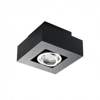 KANLUX 26830 | Stobi Kanlux mennyezeti lámpa négyzet elforgatható fényforrás 1x GU10 / PAR16 fekete