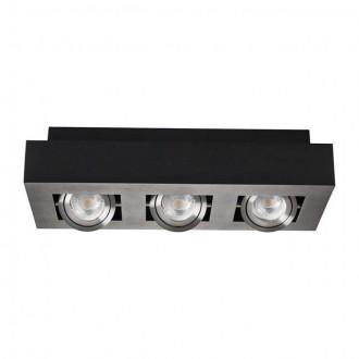 KANLUX 26834 | Stobi Kanlux mennyezeti lámpa téglalap elforgatható fényforrás 3x GU10 / PAR16 fekete