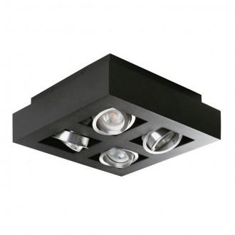 KANLUX 26836 | Stobi Kanlux mennyezeti lámpa négyzet elforgatható fényforrás 4x GU10 / PAR16 fekete