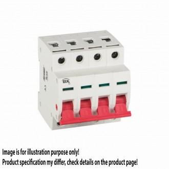 KANLUX 27250 | Kanlux leválasztó kapcsoló DIN35 modul, 4 - 60A világosszürke, piros