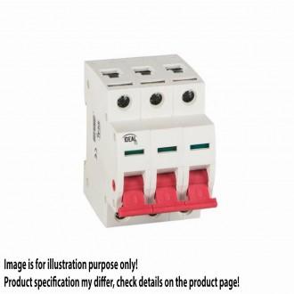 KANLUX 27251 | Kanlux leválasztó kapcsoló DIN35 modul, 3 - 25A világosszürke, piros