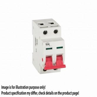 KANLUX 27254 | Kanlux leválasztó kapcsoló DIN35 modul, 2 - 25A világosszürke, piros