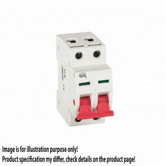 KANLUX 27255 | Kanlux leválasztó kapcsoló DIN35 modul, 2 - 40A világosszürke, piros