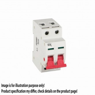 KANLUX 27256 | Kanlux leválasztó kapcsoló DIN35 modul, 2 - 63A világosszürke, piros