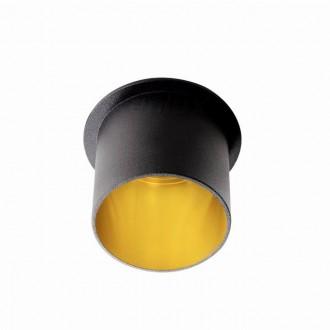 KANLUX 27320 | Spag Kanlux beépíthető lámpa kerek foglalat nélkül Ø68mm 1x MR16 / GU5.3 / GU10 fekete, arany