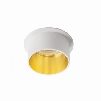 KANLUX 27323 | Spag Kanlux beépíthető lámpa kerek foglalat nélkül Ø68mm 1x MR16 / GU5.3 / GU10 fehér, arany