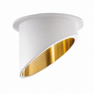 KANLUX 27325 | Spag Kanlux beépíthető lámpa kerek foglalat nélkül Ø68mm 1x MR16 / GU5.3 / GU10 fehér, arany