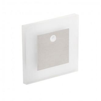 KANLUX 27370 | Kanlux_Apus Kanlux beépíthető lámpa négyzet mozgásérzékelő 75x75mm 1x LED 13lm 3000K nemesacél, rozsdamentes acél, átlátszó