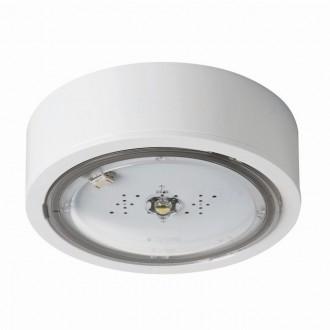KANLUX 27382 | iTech Kanlux kettős feladatú vészvilágító 3h - fali, mennyezeti, beépíthető lámpa - ST kerek 1x LED 215lm 5000K IP65 fehér
