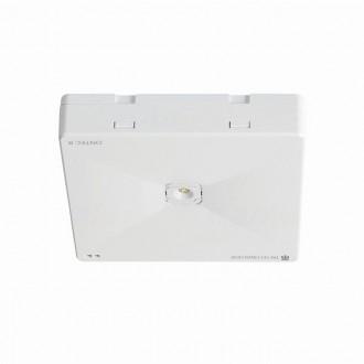 KANLUX 27390 | Ontec-R Kanlux kettős feladatú vészvilágító 1h - fali, mennyezeti, beépíthető lámpa négyzet 1x LED 261lm 5000K