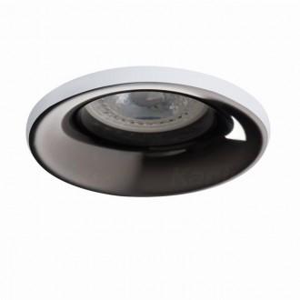 KANLUX 27801   Elnis Kanlux beépíthető lámpa kerek foglalat nélkül Ø98mm 1x MR16 / GU5.3 / GU10 fehér, antracit