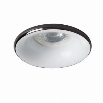 KANLUX 27802   Elnis Kanlux beépíthető lámpa kerek foglalat nélkül Ø98mm 1x MR16 / GU5.3 / GU10 antracit, fehér
