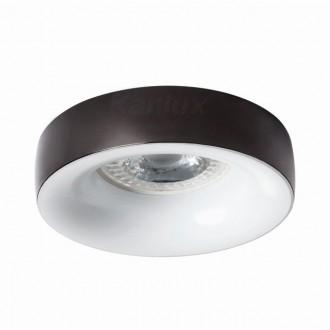 KANLUX 27807   Elnis Kanlux beépíthető lámpa kerek foglalat nélkül Ø98mm 1x MR16 / GU5.3 / GU10 antracit, fehér
