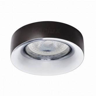 KANLUX 27808   Elnis Kanlux beépíthető lámpa kerek foglalat nélkül Ø98mm 1x MR16 / GU5.3 / GU10 antracit, króm