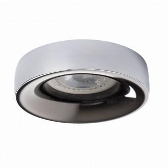 KANLUX 27812   Elnis Kanlux beépíthető lámpa kerek foglalat nélkül Ø98mm 1x MR16 / GU5.3 / GU10 króm, antracit