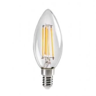 KANLUX 29618 | E14 4,5W -> 40W Kanlux gyertya C35 LED fényforrás filament 470lm 2700K 320° CRI>80