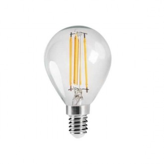 KANLUX 29624 | E14 4,5W -> 40W Kanlux kis gömb G45 LED fényforrás filament 470lm 2700K 320° CRI>80